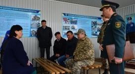 Министр обороны РК проверил ход призыва