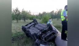 Павлодарец после совершения ДТП отрицал, что сидел за рулем перевернутого авто