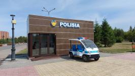 Стационарный пост полиции вернулся на павлодарскую набережную