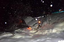 В Павлодарской области водитель едва не провел новогоднюю ночь в кювете