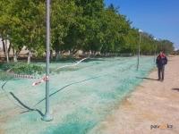 Подрядчики объяснили, зачем «покрасили» песок на новой набережной Павлодара