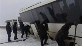"""На участке трассы """"Кызылорда – Павлодар"""" в кювет вылетел автобус и несколько автомобилей"""