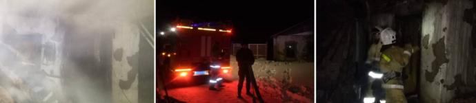 Павлодарский пожарный вынес из горящего дома женщину