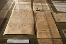 Подлинник письма Канаша Камзина с фронта на латинице показали павлодарцам на выставке