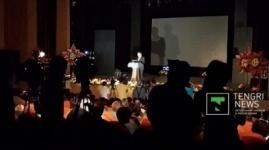 Во время выступления министра образования в Алматы отключили свет