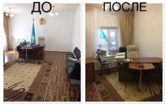 В Щербактинском районе чиновница уступила свой просторный кабинет подчиненным