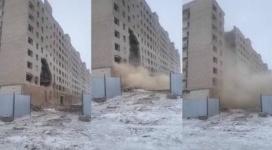 Видео обрушения многоэтажки: в акимате Павлодара ответили на рассылку