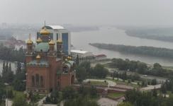 Странный туман над Павлодаром синоптики называют дождевой дымкой
