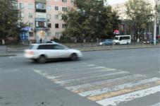 Водитель не пропустил пешехода на переходе в Павлодаре