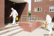В Павлодаре дезинфекция подъездов продолжится до конца карантина