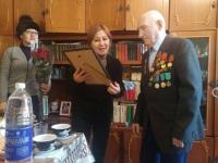 В Павлодаре поздравили 95-летнего ветерана войны