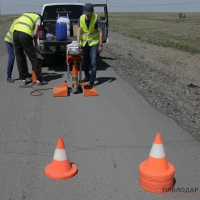 Дорогу вблизи Экибастуза залатали с технологическими нарушениями