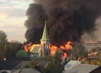 Пожар близ мечети произошел в Павлодаре