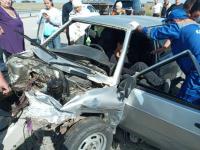 В Павлодарской области водитель въехал в барьерное ограждение на трассе