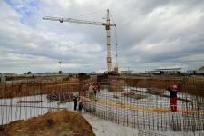Булат Бакауов ознакомился с ходом строительства объектов Спорт сити