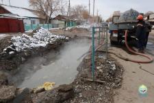 В Павлодаре неизвестные злоумышленники устроили аварию на теплосетях