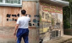 Перекрывать наркограффити рисунками решили в Павлодаре