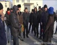 Сотрудники кирпичного завода в Экибастузе требуют выплатить им зарплату за три месяца