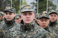 Столичный военный парад солдаты в Павлодаре посмотрелив прямом эфире
