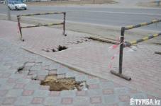 В Актау обвалилась новая велосипедная дорожка за 45 млн тенге (фото)