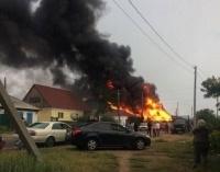 В Павлодаре за считаные минуты загорелся частный дом