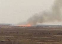 В степи около Аксу произошел пожар из-за халатного обращения с огнем