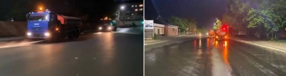 В Павлодаре по ночам моют улицы от пыли и пуха