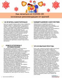 Врачи опубликовали рекомендации о том, как лечиться от COVID-19