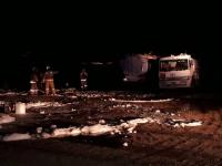 Пожарные предупредили взрыв двух бензовозов в Павлодарской области