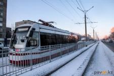 В Павлодаре обрыв контактной сети стал причиной остановки трамваев