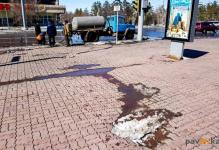Февральская авария в жилом доме дала в апреле трещину на центральной улице Павлодара