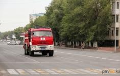 В одном из продовольственных магазинов Павлодара произошел пожар