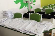 121 комплект одежды раздали ученикам 41-ой школы в Павлодаре