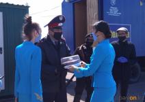 Сюрприз устроили волонтеры и отдел культуры сотрудникам павлодарских блокпостов