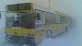 39 пассажирских автобусов сошли с рейса из-за мороза в Павлодаре