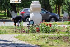 Посадку цветов в Павлодаре обещают закончить к концу июня