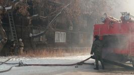 Крупный пожар произошел в Павлодаре в Рождество