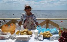 Жительница Щербактинского района готовит творог по старинному рецепту и продает продукцию на местном курорте