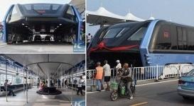 Долой пробки на дорогах: В Китае прошли испытания автобуса будущего