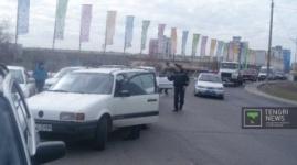 Дороги перекрыли в Павлодаре из-за водителей-штрафников