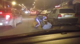 Видео драки на дороге в Астане появилось в Сети