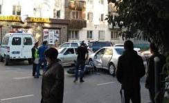 В Павлодаре мотоцикл и автомобиль неподелили дорогу
