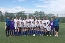 Футбольная команда девочек из Павлодара на предварительном этапе чемпионата РК обыграла соперников