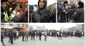Толпа недовольных пассажиров перекрыла проспект в Алматы