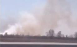 Очередной пожар неподалеку от Иртыша разгорелся в районе Павлодара