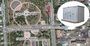 Первый общественный туалет с подключением к канализации установят в парке Гагарина