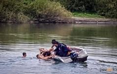 В Павлодаре на реке Усолке удалось предотвратить трагедию