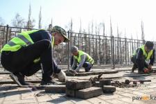 Больше трех тысяч квадратных метров брусчатки планируют заменить в Павлодаре