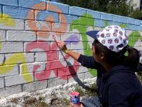 В Экибастузе арт-отряд «Жасыл ел» разукрашивает город