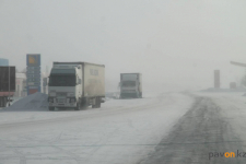 Полицейские предложили расторгнуть договор с подрядчиками, плохо убирающими снег на автодорогах в Павлодарской области